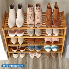 Our 2-Tier Stackable Bamboo Shoe Shelf is everything it's stacked up to be. Not only is it made from gorgeous bamboo, but three of them can be stacked for extra storage space. It holds up to eight pairs of women's shoes or six pairs of men's. (We show two stacked here.) Shoe Storage, Storage Ideas, Organization Ideas, Extra Storage, Closet Organization, Wood Monogram, Wall Key Holder, Shoe Organizer, Shoe Cabinet