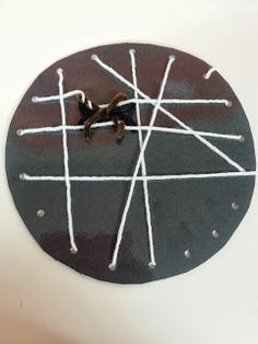 Spider Webs - Halloween lesson and a spider web lacing craft for fine motor development