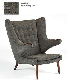 LIVING ROOM: Papa Bear Chair: original Hans J. Wegner design - Modernica