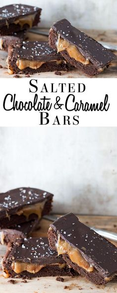Salted Chocolate & Caramel Bars - This recipe for is pure indulgence! This is a dessert that's sure to please brownie & cookie lovers alike via @Erren's Kitchen