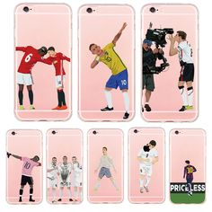 Ultra Thin Football Phone Case for iPhone 5S 6 7 6S Plus Football Star Ronaldo Pogba Messi Coque Soft Clear TPU Cover Fundas Gel