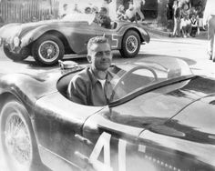 Jaguar XKC 007 with Phil Hill at Elkhart Lake in 1952 - Photo supplied by Nell Family Sports Car Racing, Road Racing, Elkhart Lake, Santa Monica California, Photo Supplies, Formula One, Jaguar, Champion, American
