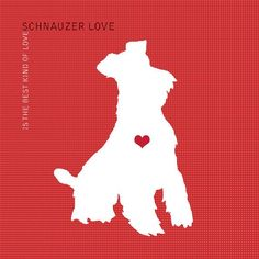 Schnauzer Love is the Best Kind of Love Dog by DogLoveShoppe, $4.75