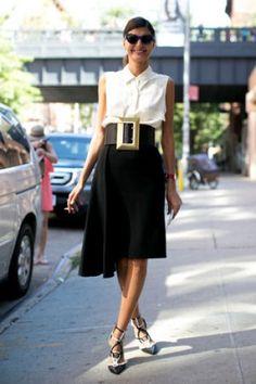 Street looks fashion week New York : ceinture XXL