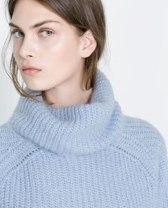 COWL NECK RIB-KNIT SWEATER from Zara