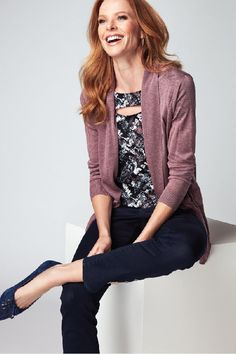 Lightweight layer that's perfect for the summer season. Our mauve cocoon cardigan gently flows over any outfit. Pair it with your office ensemble or weekend wardrobe. Cocoon Cardigan, Sweater Cardigan, Summer Nights, Mauve, Style Me, Personal Style, Summer Outfits, Dressing