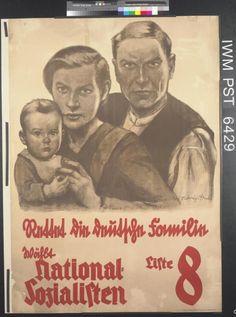 Rettet die Deutsche Familie [Save the German Family] poster from between 1919-1938.