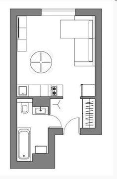 Скандинавская студия в 24 м² – Красивые квартиры