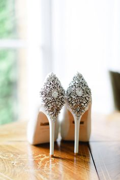 Badgley Mischka embellished sparkly wedding shoes. Harry And Meghan Wedding, Badgley Mischka Shoes Wedding, Sparkly Wedding Shoes, Emotional Affair, Advice For Bride, Life Without You, Father Daughter Dance, Real Couples, Engagement Couple
