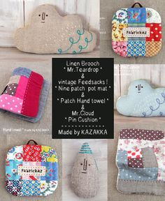 shop info | fabrickaz+idees Sewing Projects, Projects To Try, Pouch Bag, Embroidery Applique, Pin Cushions, Hand Towels, Handicraft, Pot Holders, Diy And Crafts