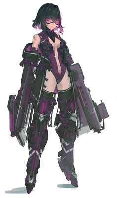 Safebooru is a anime and manga picture search engine, images are being updated hourly. Female Character Design, Character Design Inspiration, Character Concept, Character Art, Cyberpunk Character, Cyberpunk Art, Cyberpunk Anime, Sci Fi Anime, Frame Arms Girl
