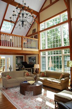 Yankee Barn Homes Model House In Grantham, NH by Yankee Barn Homes, via Flickr