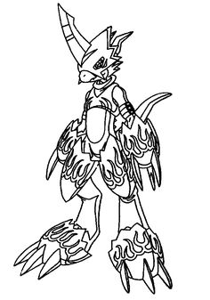 digimon coloring pages - Digimon Coloring Pages