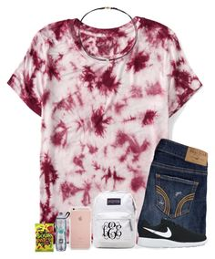 """""""{+ootd} it's thursdayy 💘✨"""" by mmadss ❤ liked on Polyvore featuring Aéropostale, Hollister Co., NIKE, JanSport and Dogeared"""