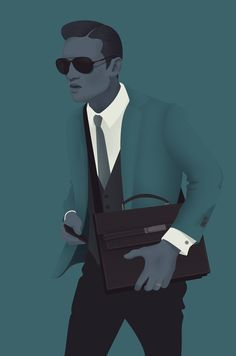 Illustration by Jack Hughes, Without Prejudice Select inspiration Man Illustration, Mid Century Art, Inspirational Artwork, Modern Artists, Freelance Illustrator, Graphic Design Typography, Caricature, Line Art, My Drawings