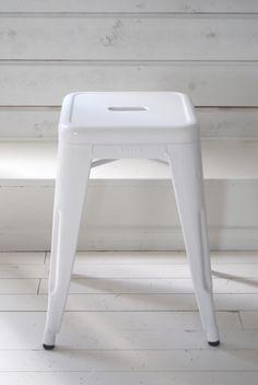 tolix stool - white
