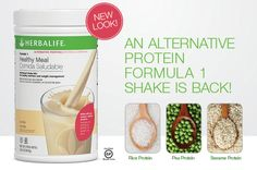 Perfect for those seeking an alternative, plant-based protein!  With 21 vitamins and minerals, Formula 1 Alternative Proteins is a healthy meal option providing nine grams of protein from pea, sesame and rice. It's also gluten-free! Order today