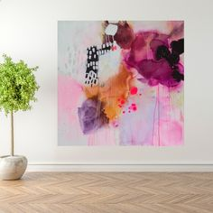 Painting in rose colours by Mette Lindberg. www.mettelindbergart.com