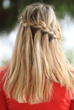 watch out for the woestmans: Waterfall Braid Tutorial How to start and finsish
