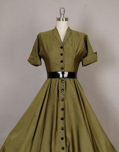 vintage 1950s dress 50s dress full skirt by NodtoModvintage
