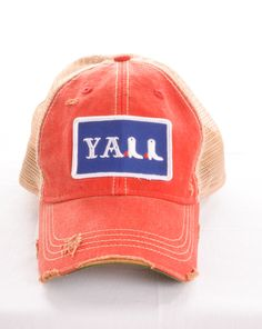 Rivertrail Mercantile - Judith March Y'all Hat - Red, $38.00 (http://www.rivertrailmercantile.com/judith-march-yall-hat-red/)