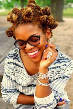 Bantu knots locs hairstyle