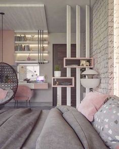 Teen Schlafzimmer: Siehe 65 perfekte Ideen, Fotos und Designs - Teen Bedroom id. Dream Rooms, Dream Bedroom, Master Bedroom, Bedroom Black, Bedroom Wardrobe, Master Suite, Affordable Home Decor, Cheap Home Decor, Appartement Design
