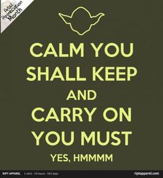 "The $10 t-shirt deal of the day over at RIPT Apparel is the Star Wars-themed shirt called ""Keep Calm You Will"" by apalooza.The sale at RIPT began today, Sunday, November 27, 2011, at midnight CST, and will continue for 24 hours from then, and once it's over, it will not be sold on the site anymore [...]"