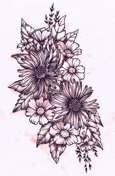 geometric floral half sleeve - Google Search