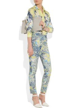 Erdem|Sidney floral-print twill skinny pants|NET-A-PORTER.COM
