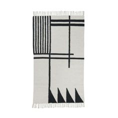 Kelim Rug - Black Lines Designer: ferm LIVING Manufactured by: ferm LIVING Dimensions (in): see Options below Our Kelim Rugs are hand made and therefore every o
