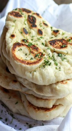 Homemade Naan (with step-by-step photos) - Half Baked Harvest. Oh my, I could eat Naan every single day! Think Food, I Love Food, Good Food, Yummy Food, Tasty, Half Baked Harvest, Snacks, Indian Food Recipes, Food To Make