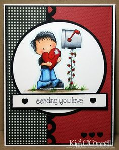 """Paper Perfect Designs by Kim O'Connell: Stamping Bella """"Sending You Love"""""""