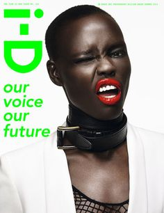 Now THAT is a great red lip. // Grace Bol for i-D Summer 2013