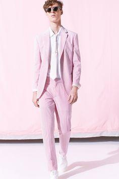 Marc Jacobs | Spring 2015 Menswear #seersucker #pink