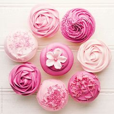 Assorted All Pink Cupcakes