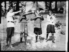 Girl scouts with guns #Vintage #GirlswithGuns