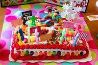 Candyland board game cake