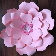 SVG Paper Flower Template with Base, DIGITAL Version - Original Design by Annie Rose - Cricut Ready