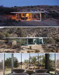 glass-architecture-IT-house-prefab. Respectuosos amb el medi ambient i integrades, si senyor!!!!