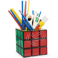 RUBIK'S CUBE #PENCIL HOLDER #COOL ... Price: $18.99 ... Where to Buy: Perpetual Kid .... ♥ the #giftdetectives