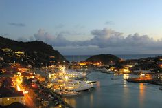 The port by night