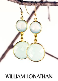 Aquamarine gemstone faceted drop earrings Aquamarine dangling earrings Statement earrings Aquamarine jewelry Fashion earrings Aquamarine by WilliamJonathan