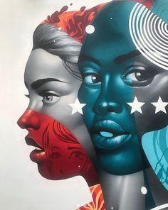 """American Power"" Tristan Eaton Street art"