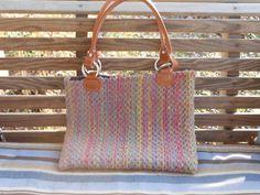 Multi Color Woven Handbag by RussellCreekFibers on Etsy