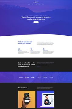 Agency landing page was build up from more sliders and blocks which you can use at your business website. Take a look at the navigation and sections. Web Design, First Page, Business Website, We The People, Sliders, Mobile App, Landing, Wordpress, Graphing Activities