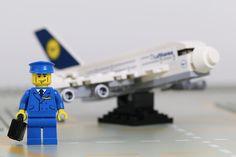 let us fly away!  #lego #legominifigures #minifigures #minifigure #legostagram #bricks #brick #legophotography #legoaddict  #bricknetwork #legominifigs #legoart #legohub #toyartistry #toyphotography #toys #afol #airport #airplane #airplanes #lufthansa #pilot  #pilots by that_lego_fan