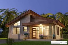 2 bedroom house plans provide affordable living options for small families . Find the best 2 bedroom floor plans with one bath, or opt for the 2 bedrooms 2 bathrooms house designs Duplex House Plans, Garage House Plans, Bungalow House Plans, Bungalow House Design, Luxury House Plans, New House Plans, Dream House Plans, Modern House Plans, 2 Bedroom House Design