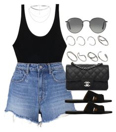 """#14800"" by vany-alvarado ❤ liked on Polyvore featuring MARA, T By Alexander Wang, Chanel, Hermès, Ray-Ban and ASOS"