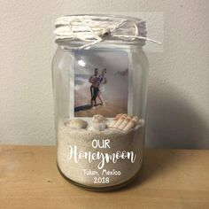 Our Honeymoon Picture Frame Sand Jar Polaroid Memory Box Mason Jar Beach Vacation Just Married Hubby Wifey Honeymoon Vibes Travel Beach Wedding Reception, Fall Wedding, Our Wedding, Wedding Goals, Wedding Planning, Dream Wedding, Wedding Memory Box, Wedding Stuff, Memories Box